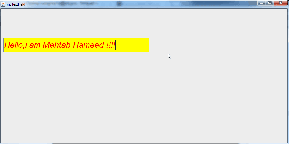 Changing color of the background in JTextField