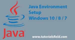 java environment setup windows