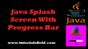 How To Create Java Splash Screeen With Progress Bar